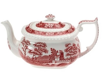 Spode Pink Tower Large Teapot Transferware for Fine Dining Entertaining