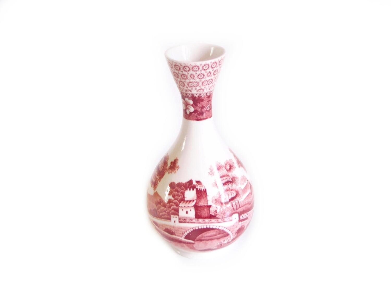 Rare Vintage Spode Pink Tower 7 Inch Flower Vase