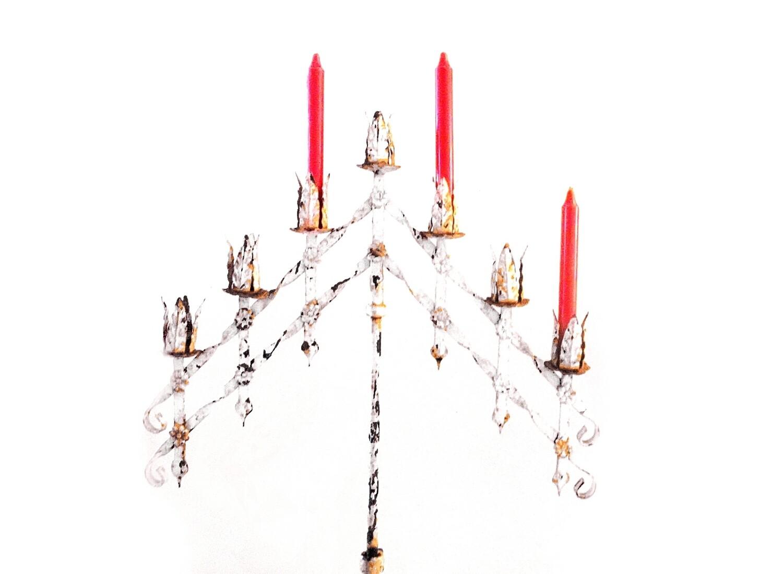 Antique Gothic Floor Church  Religious Candelabra Candle Holder