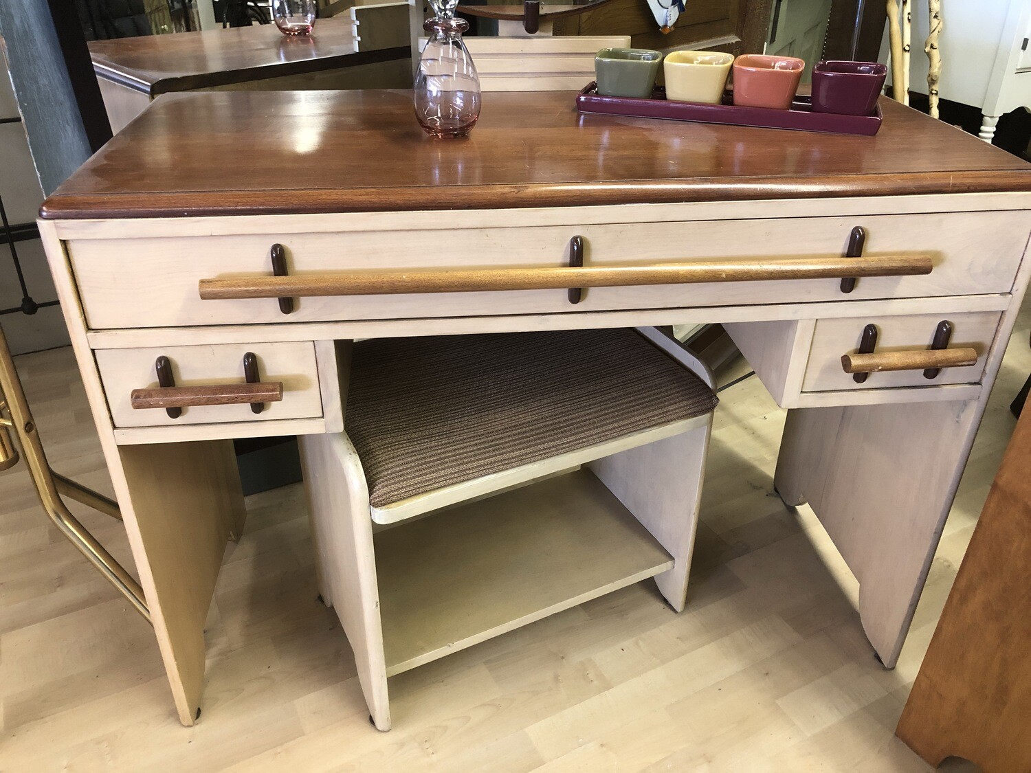 1930s Vanity, Mirror, Stool and Double Bed with Build In Lights