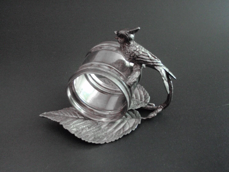 Simpson Hall Miller Quad Plate Bird Napkin Ring Holder