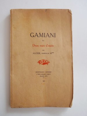 1931 Gamiani French Erotica Book Two Nights of Excess 9 Erotic Gravure 189 of 350 Clandestine Printing