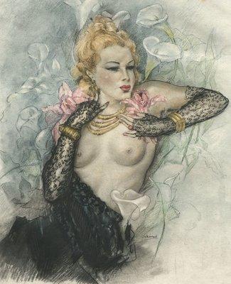 1947 Ltd Ed Baudelaire Les Fleur Du Mal - 14 Erotic Illustrations by Edouard Chimot Flowers of Evil