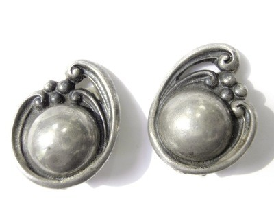 1930s Taxco Mexico 980 Sterling Silver Earrings by Rubi Ramirez
