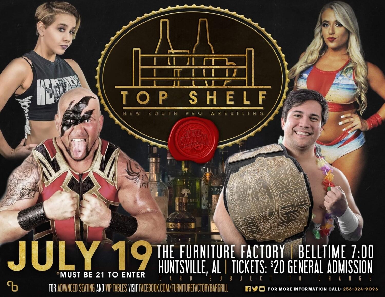 New South Wrestling GA Ticket July 19th