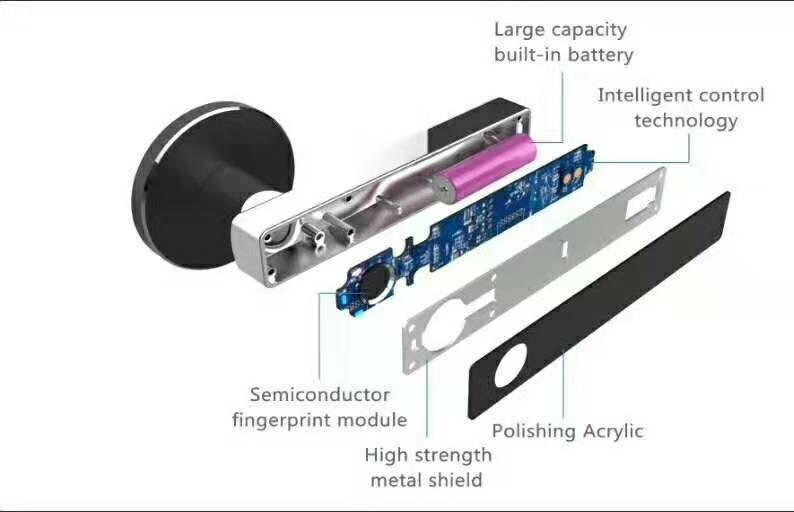 Biometric Fingerprint Digital Electronic Door Handle Lock Free Shipping