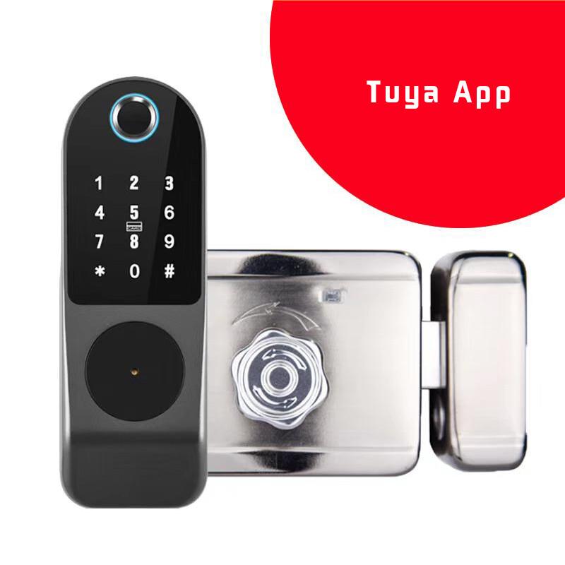 Tuya/TTlock Fingerprint Keyless Rim Lock