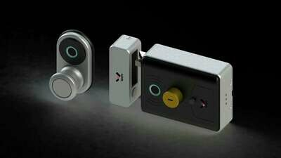 Double Side Fingerprint Anti-theft Electric Rim Lock