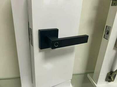 Fingerprint Handle Lock Replacing Original Knob Lock