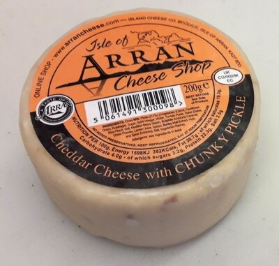 Arran Cheddar Cheese with Chunky Pickle 200g