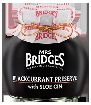 Mrs Bridges Scottish Blackcurrant Preserve with Sloe Gin 340g