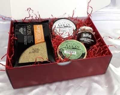 Luxury Cheese, Oatcakes and Chutney Gift Box
