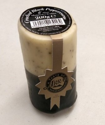 Arran Cheddar Cheese with Cracked Black Peppercorns 200g