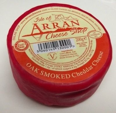 Arran Oak Smoked Cheddar Cheese 200g