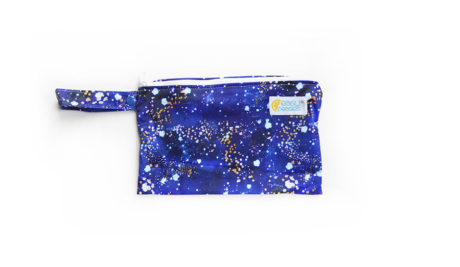 Easy Peasies® Mini Reusable Wetbag With Strap - cosmos