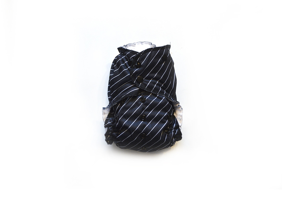 Easy Peasies® One Size Reusable Cloth Swim Diaper - Pinstripe