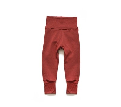 Little Sprout Pants™ in Terra Cotta   Grow With Me Leggings - Cotton