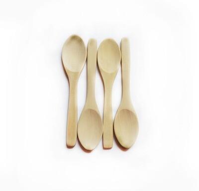 Simply Good™ Set of 4 Wood Baby Spoons - Plastic Free Feeding