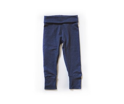 Little Sprout Pants™ in Denim Blue   Grow With Me Leggings - Cotton