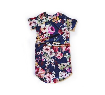 Little Sprout™ Cotton T-Shirt Dress in Navy Floral   NEW Fall 2019