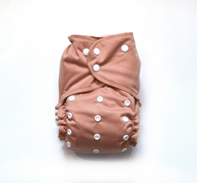 Easy Peasies All in One (AIO) Cloth Diaper  - Blush