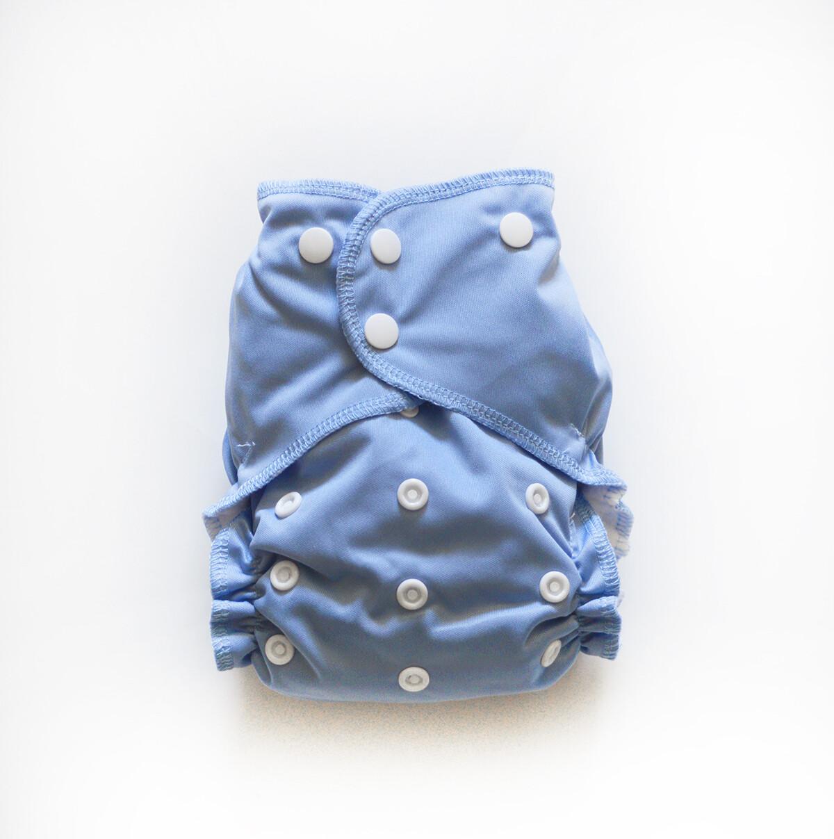 Easy Peasies One size Pocket Cloth Diaper - Steel