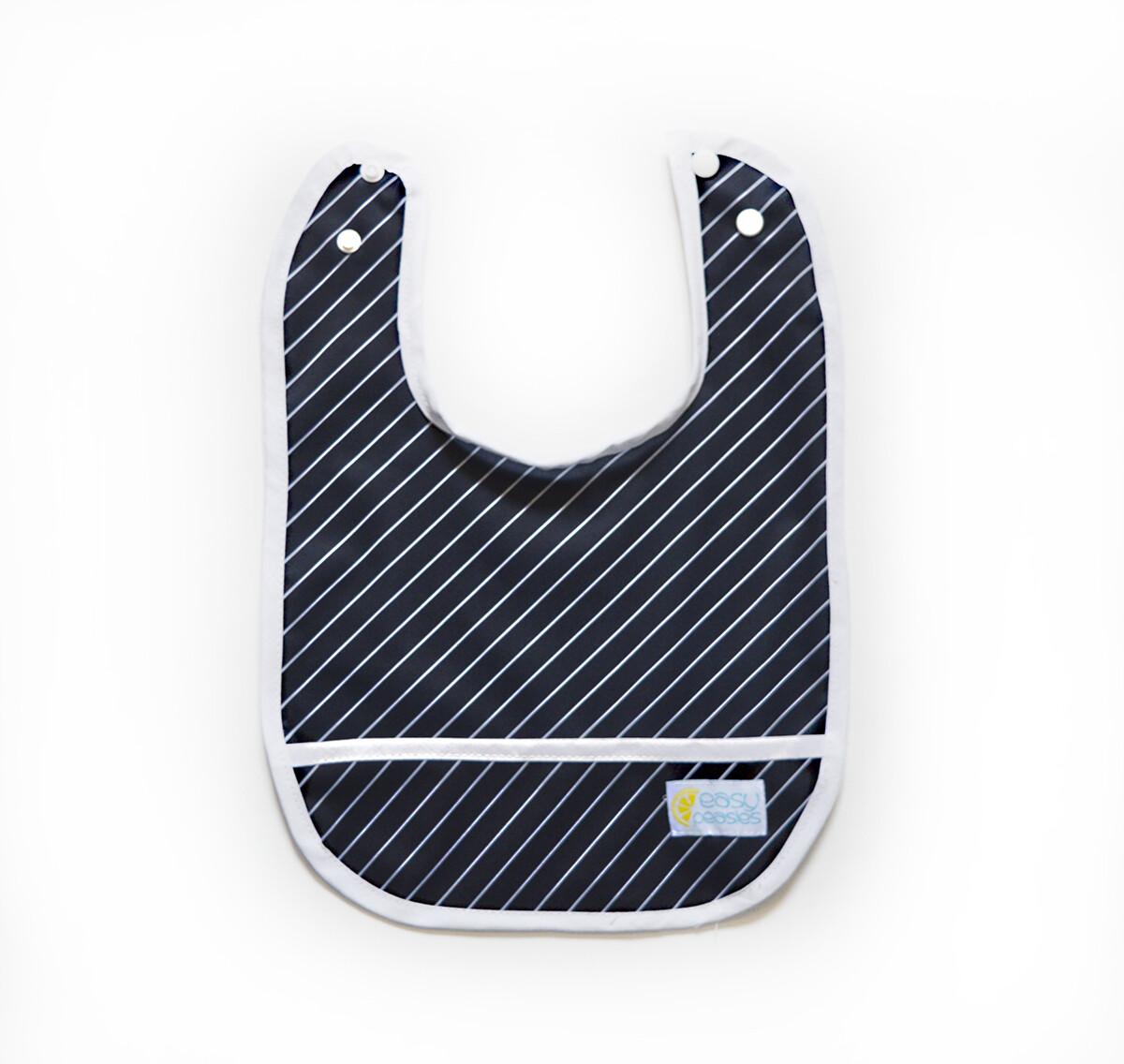 Easy Peasies® Stay Clean Bib - Pinstripe