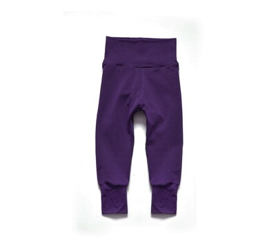 Little Sprout Pants™ in Plum   Grow With Me Leggings - Bamboo