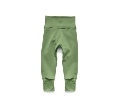 Little Sprout™ One-Size Grow with Me Pants in Sage - Cotton