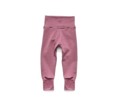 Little Sprout Pants™ in Dusty Rose    Grow With Me Leggings - Stretch