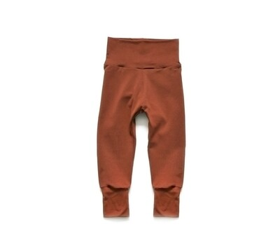 Little Sprout Pants™ in Rust   Grow With Me Leggings - Bamboo