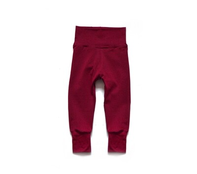 Little Sprout Pants™ in Brick   Grow With Me Leggings - Bamboo