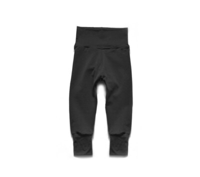 Little Sprout Pants™ in Black   Grow With Me Leggings - Organic Cotton