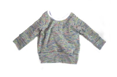 Little Sprout™ One-Size Grow with Me Crew Neck French Terry Sweatshirt in Retro Grey - Cotton