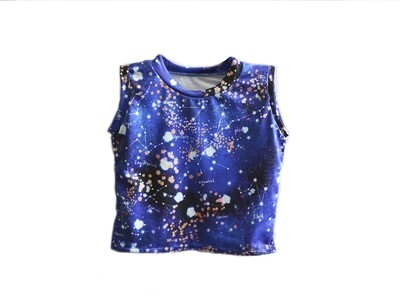 Little Sprout™ Sleeveless Stretch Tank Top -Shirt in Cosmos