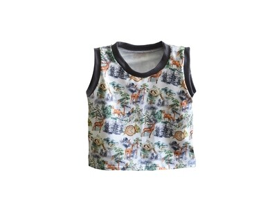 Little Sprout™ Sleeveless Tank Top - Stretch Shirt in Into the Mist