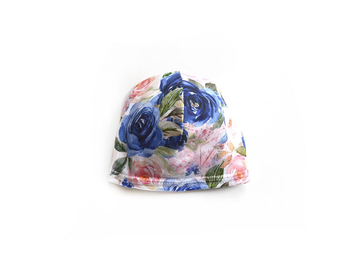 Little Sprout Beanie-Style Baby Hat in Bloom
