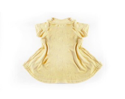 Little Sprout™ Bamboo T-Shirt Dress in Buttercup - Seconds