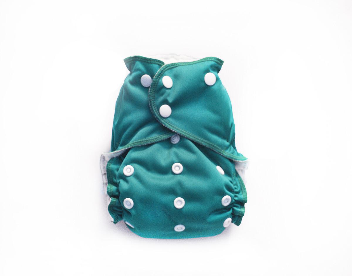 Easy Peasies One size Pocket Cloth Diaper - Jade