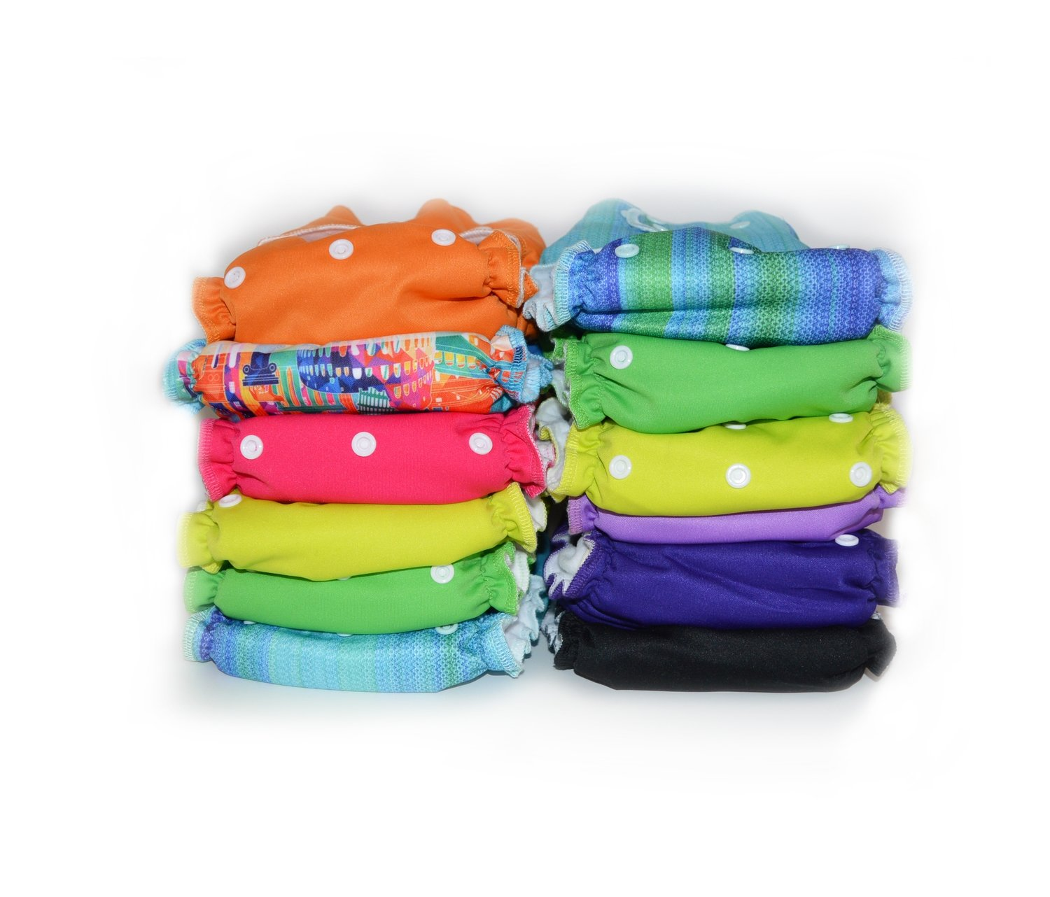 Easy Peasies® The Full Kit™ - Ready-Use AIO Reusable Cloth Diapers - Starter Pack Stash