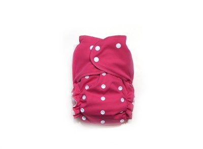 Easy Peasies® One Size Reusable Cloth Diaper Cover - Raspberry