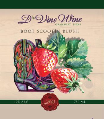 Boot Scootin' Blush – (Strawberry White Zinfandel)