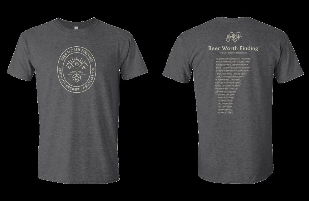 VBA Beer Worth Finding T-Shirt Charcoal Gray