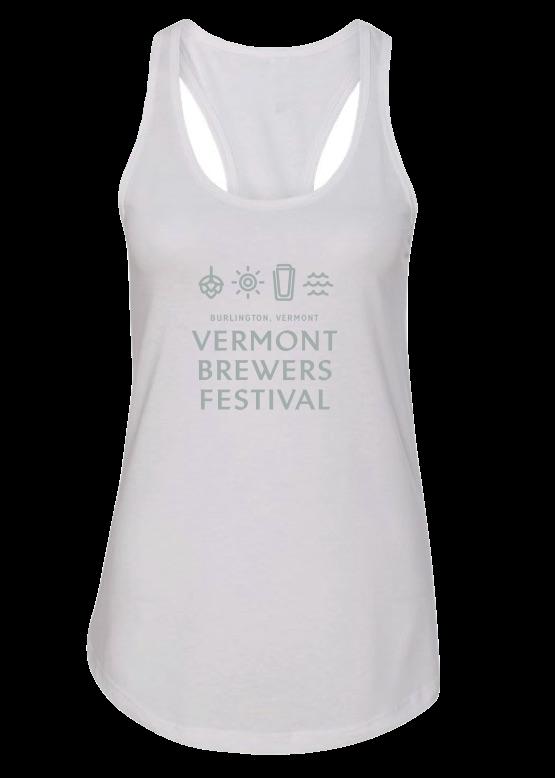 Vermont Brewers Festival Burlington White Tank Top