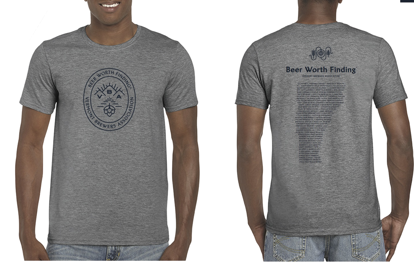 VT Brewers Beer Worth Finding T-Shirt Heather Gray