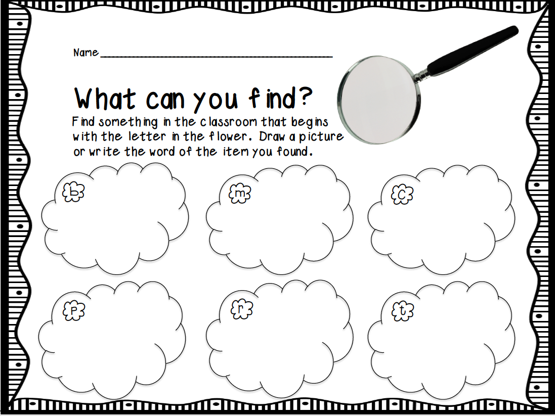 Beginning Letter Sound Hunt. FREE DOWNLOAD