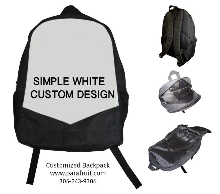 Simple White Custom Backpack