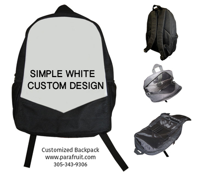 Simple White Custom Backpack