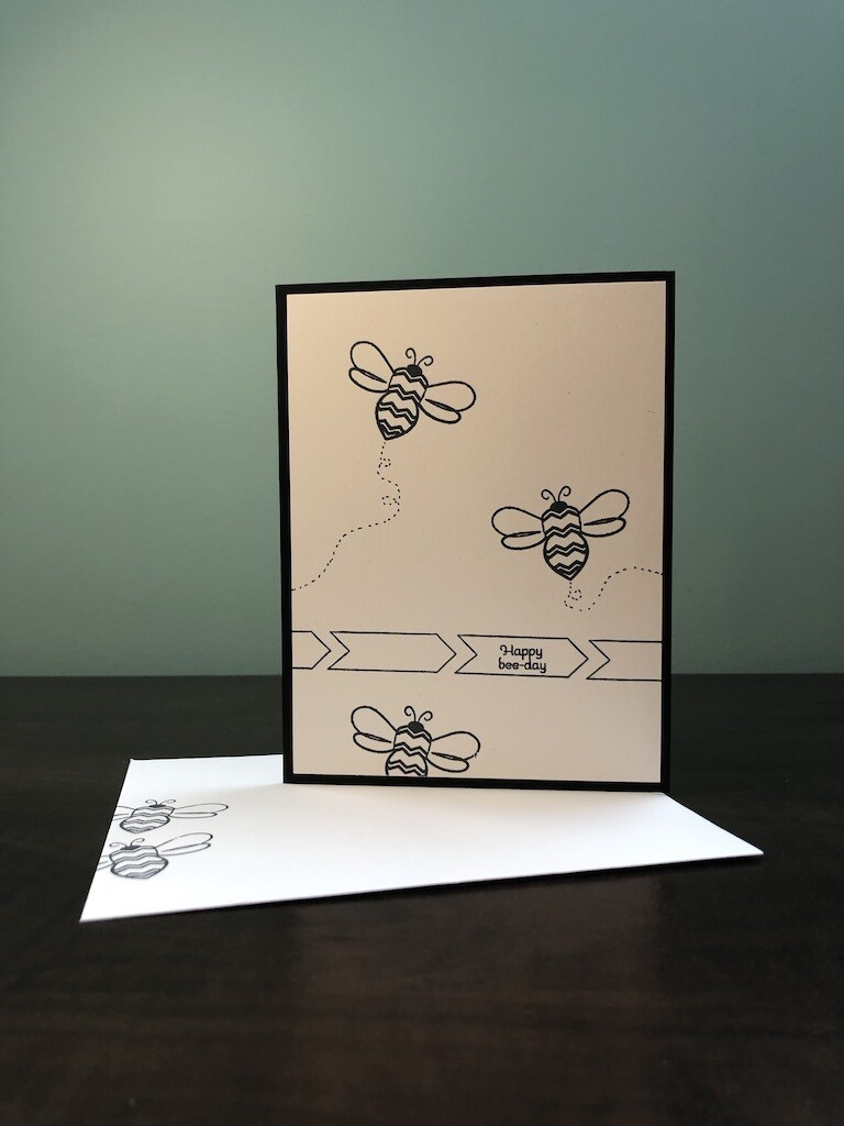 Colouring Cards - Bee
