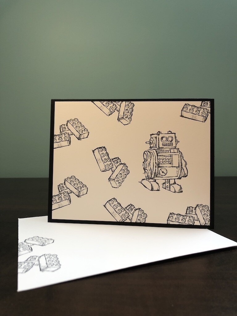 Colouring Cards - Robot